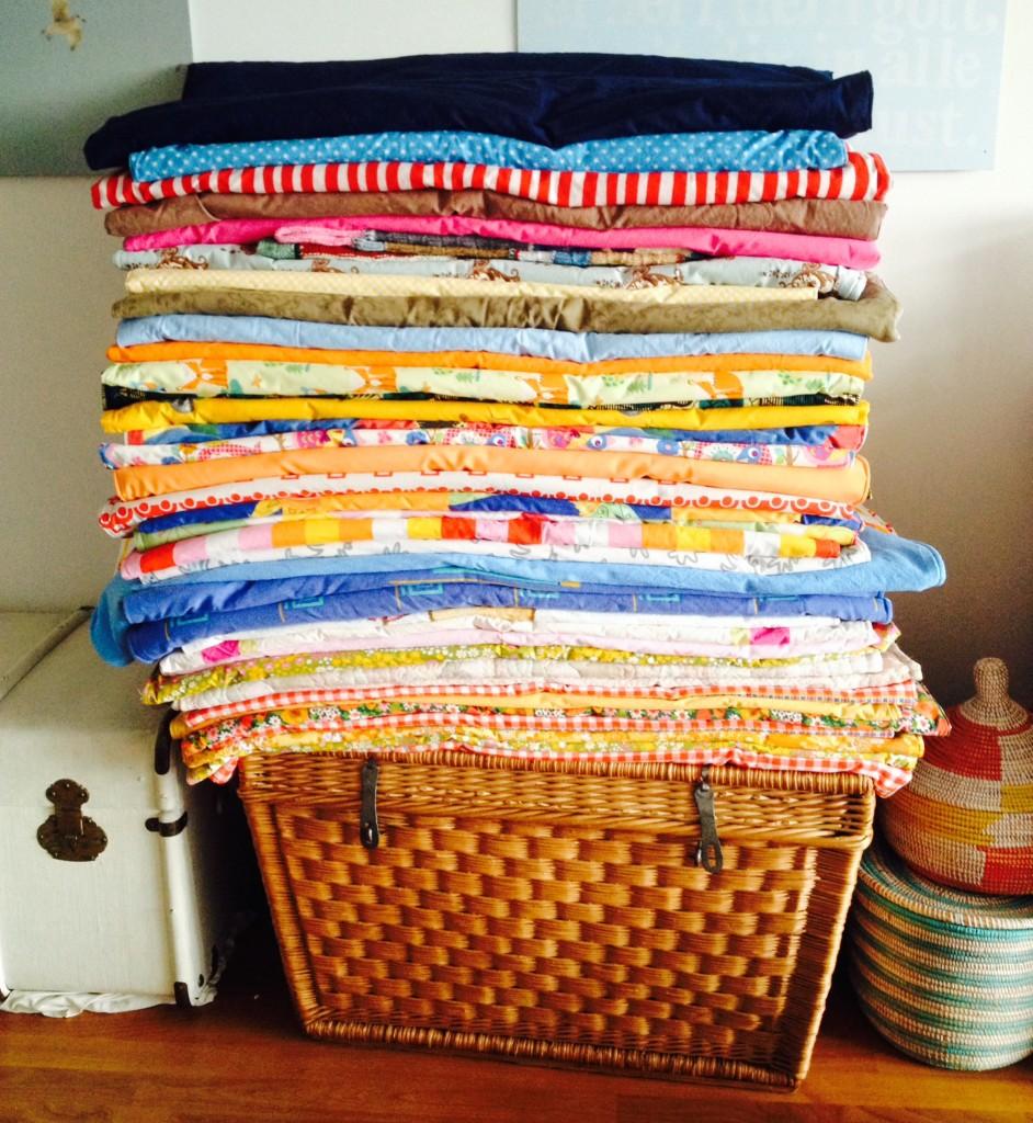 Haufe von Decken